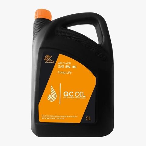 Моторное масло для грузовых автомобилей QC Oil Long Life 5W-40 (полусинтетическое) (1л.)