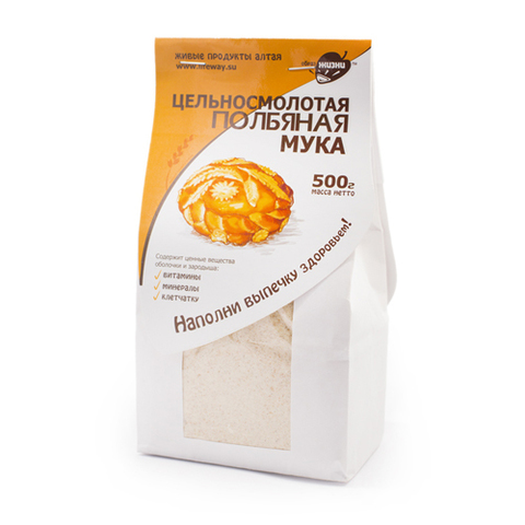 Мука полбяная цельносмолотая, 500 гр. (Образ жизни)