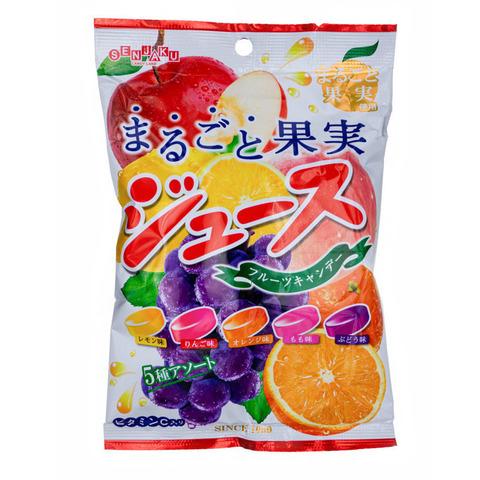 Леденцы Senjaku с фруктовыми соками  66 гр