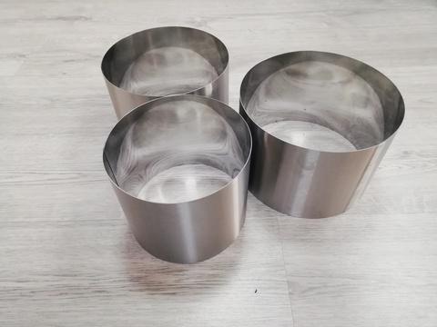 Комплект колец-резаков 3 шт, H15 D=18/20/22 см, нерж. сталь