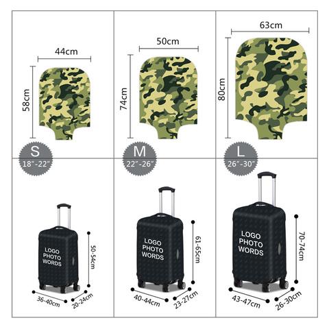 Чехол для чемодана - Камуфляж