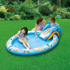 Summer Escapes. Надувной бассейн с горкой (арт. AM-P18-0435)