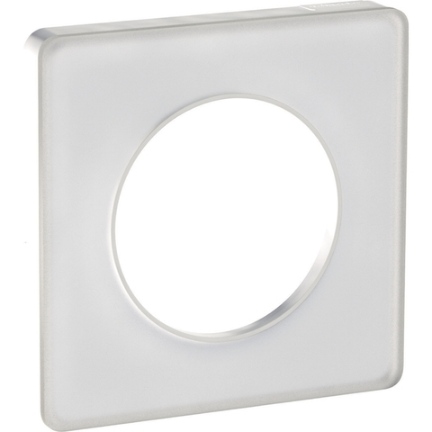 Рамка на 1 пост. Цвет Прозрачный белый, белая вставка. Schneider Electric(Шнайдер электрик). Odace(Одес). S52P802L