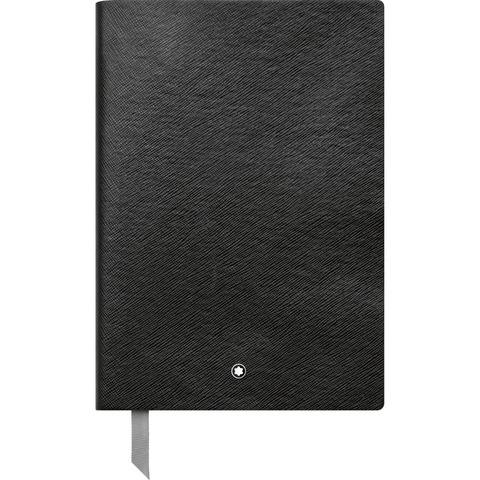 Записная книжка А5 черного цвета, линованные страницы MONTBLANC