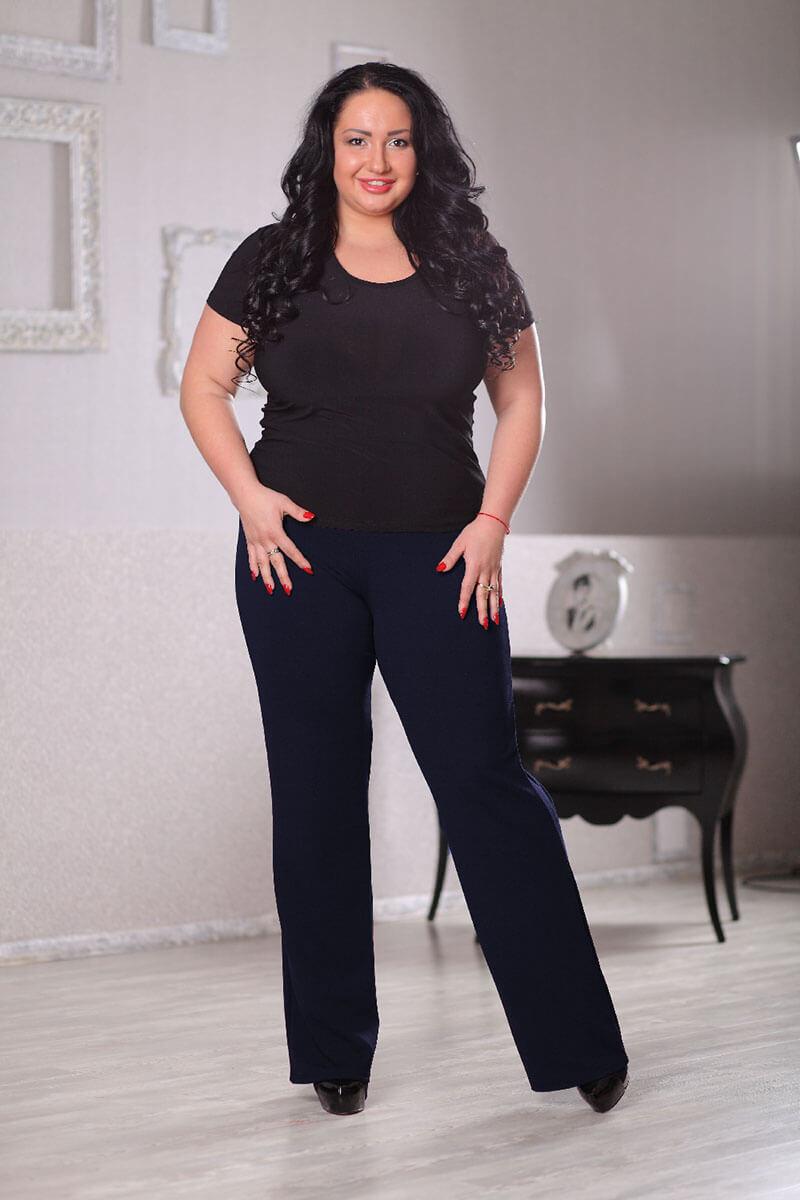 Темно-синие брюки большого размера