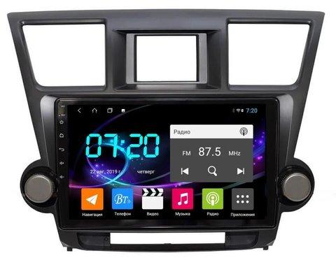 Штатная магнитола Toyota Highlander 2008-2013 Android 10.0 4/64 IPS DSP модель CB3011T9