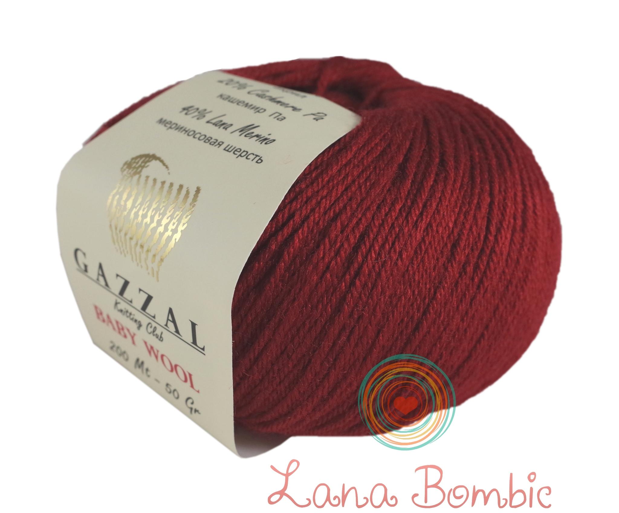 Пряжа Gazzal Baby Wool красный 816