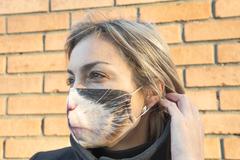 Маска тканевая Gekoko «Серьезный кот» 3
