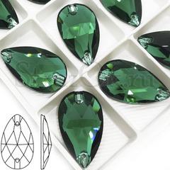 Купить пришивные стразы Emerald зеленые, Drope в Краснодаре