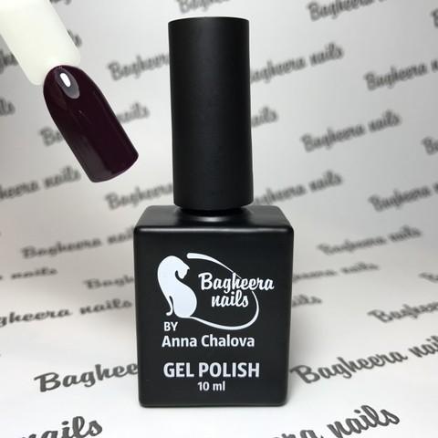 Bagheera Nails BN-43 гель-лак цвета тёмная черешня, тёмно-бордовый 10 мл