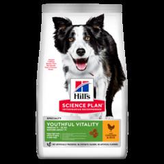 Корм для собак средних пород старше 7 лет Hill`s Science Plan Youthful Vitality Medium Breed, для борьбы с возрастными изменениями, с курицей и рисом
