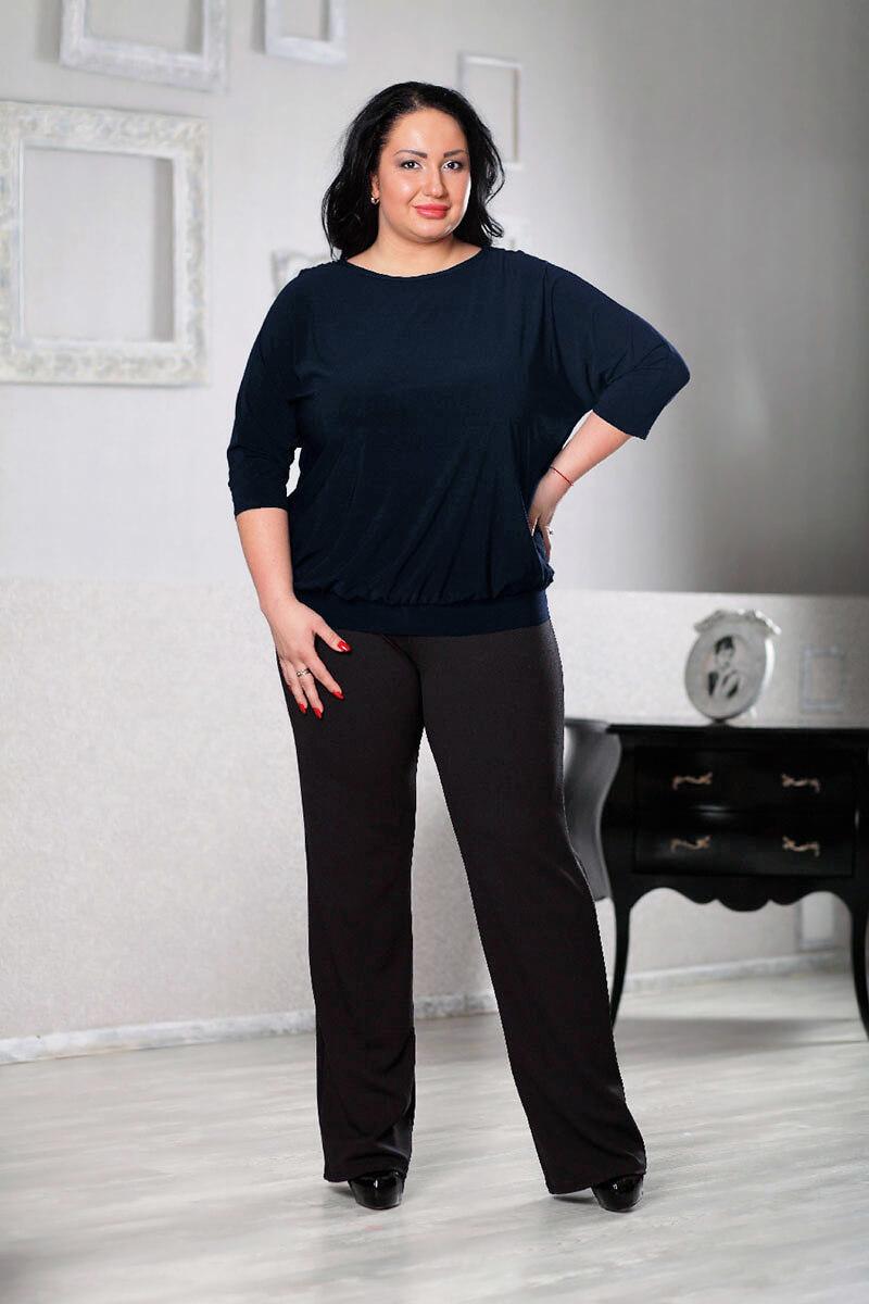 Черные трикотажные брюки большого размера
