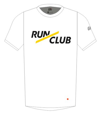 Футболка клубная, Gri RunClub, белая, мужская