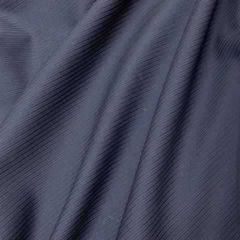 Ткань костюмно-плательная темно-синяя полоска  3375