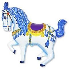 F Мини-фигура Цирковая лошадь (синяя), 14''/36 см, 5 шт.