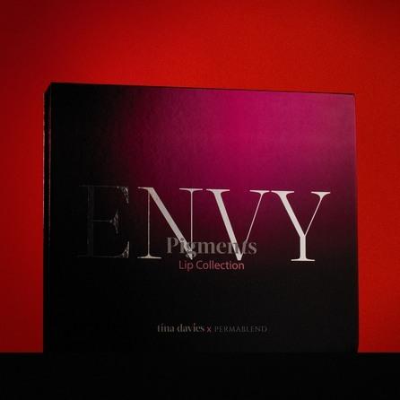 """Набор пигмент для татуажа губ """"Tina Davies ENVY Lip Collection"""" 6 пигментов, 6 карандашей, 6 помад Permablend"""