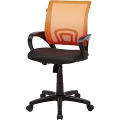 Кресло офисное Easy Chair 304 черное/оранжевое (ткань/сетка/пластик)