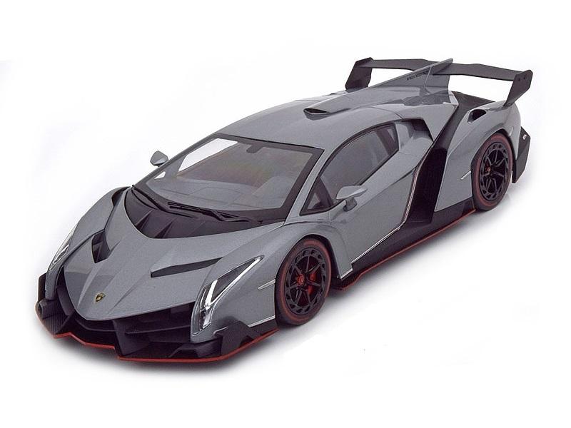 Коллекционная модель Lamborghini Veneno 2014 Grey Metallic/Red