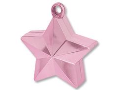 Грузик д/шара Звезда розовая 170гр