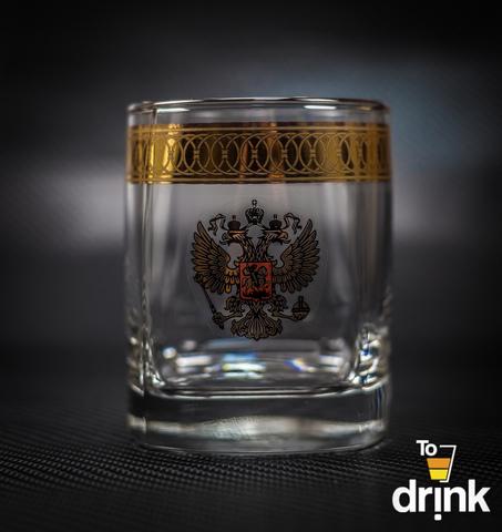 Подарочный набор из 4 стаканов для виски «Империя», 275 мл