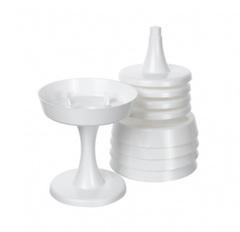 Поддон Чаша на ножке (d13хh14 см) Цвет: белый