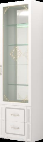 Шкаф для посуды Виктория 40 Ижмебель белый глянец