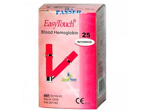 Тест-полоски Изи Тач Гемоглобин EasyTouch Hemoglobin 25 шт