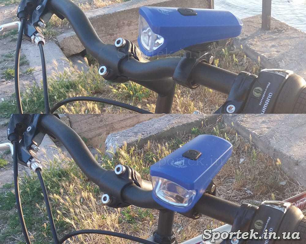 Передній трьох режимний велосипедний ліхтар (HYD-010) на кермі