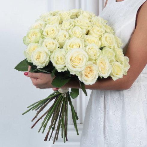 Букет цветов 35 белых роз