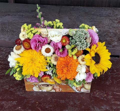 Ящик с цветами Осень Яркая 2