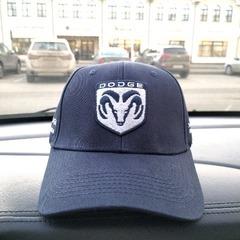 Кепка с вышитым логотипом Додж (Бейсболка  Dodge) темно-синяя