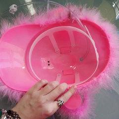 Каска с подставкой под банки Розовая, фото 4