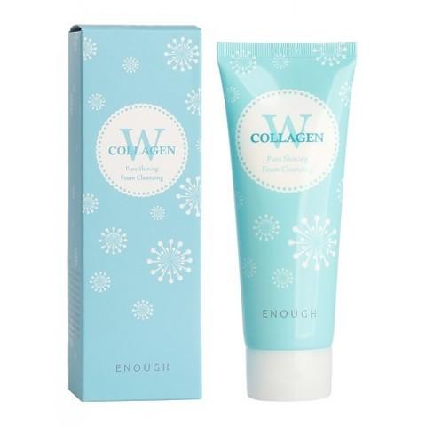 Enough W Collagen Pure Shining Foam Cleansing пенка для умывания с морским коллагеном