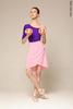 Pink cold wrap chiffon skirt  | 4 lengths