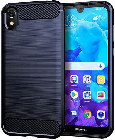 Чехол для Huawei Y5 2019 (Honor 8S) цвет Blue (синий), серия Carbon от Caseport