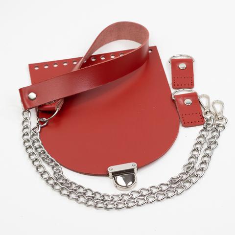 """Комплект для сумки-ракушки """"Красный"""" с  клапаном"""