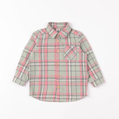 Check flannel shirt - Pistachio