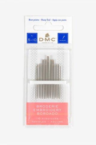 Иглы для вышивания гладью №5-10, 16 шт (DMC)