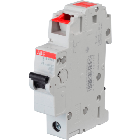Автоматический выключатель 1-полюсный 8 А, тип C, 6 кА S201S-C8. ABB. 2CDS251002R0084
