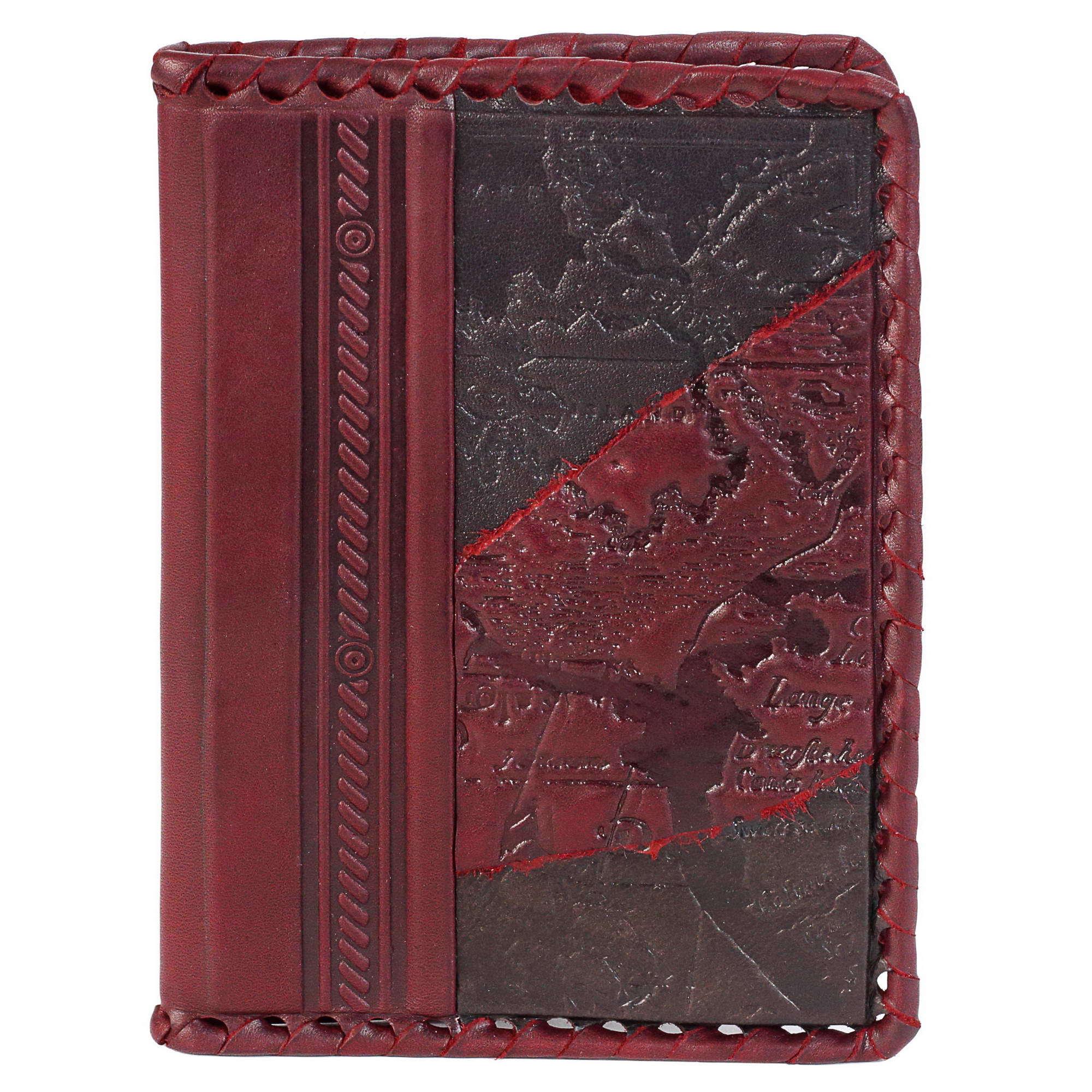 Обложка на паспорт «Роза Ветров». Цвет коричневый