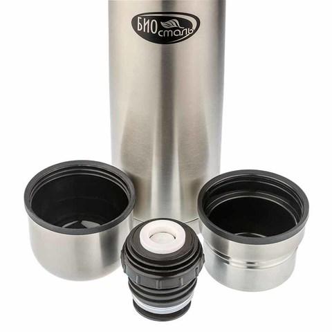Термос Biostal (0,75 литра) 2 чашки, стальной