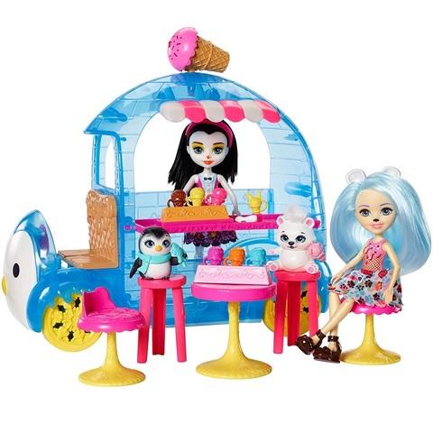Фургончик с мороженым с пингвином Приной и медведем Джейлой. Энчантималс