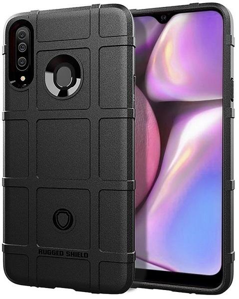 Чехол для Samsung Galaxy A20S цвет Black (черный), серия Armor от Caseport
