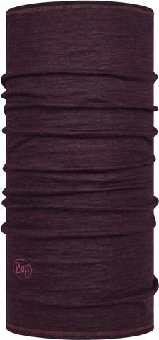 Тонкий шерстяной шарф-труба Buff Wool lightweight Solid Deep Puprle фото 1