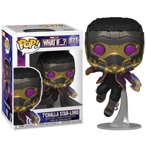 Funko POP! Bobble Marvel What If T'Challa Star-Lord