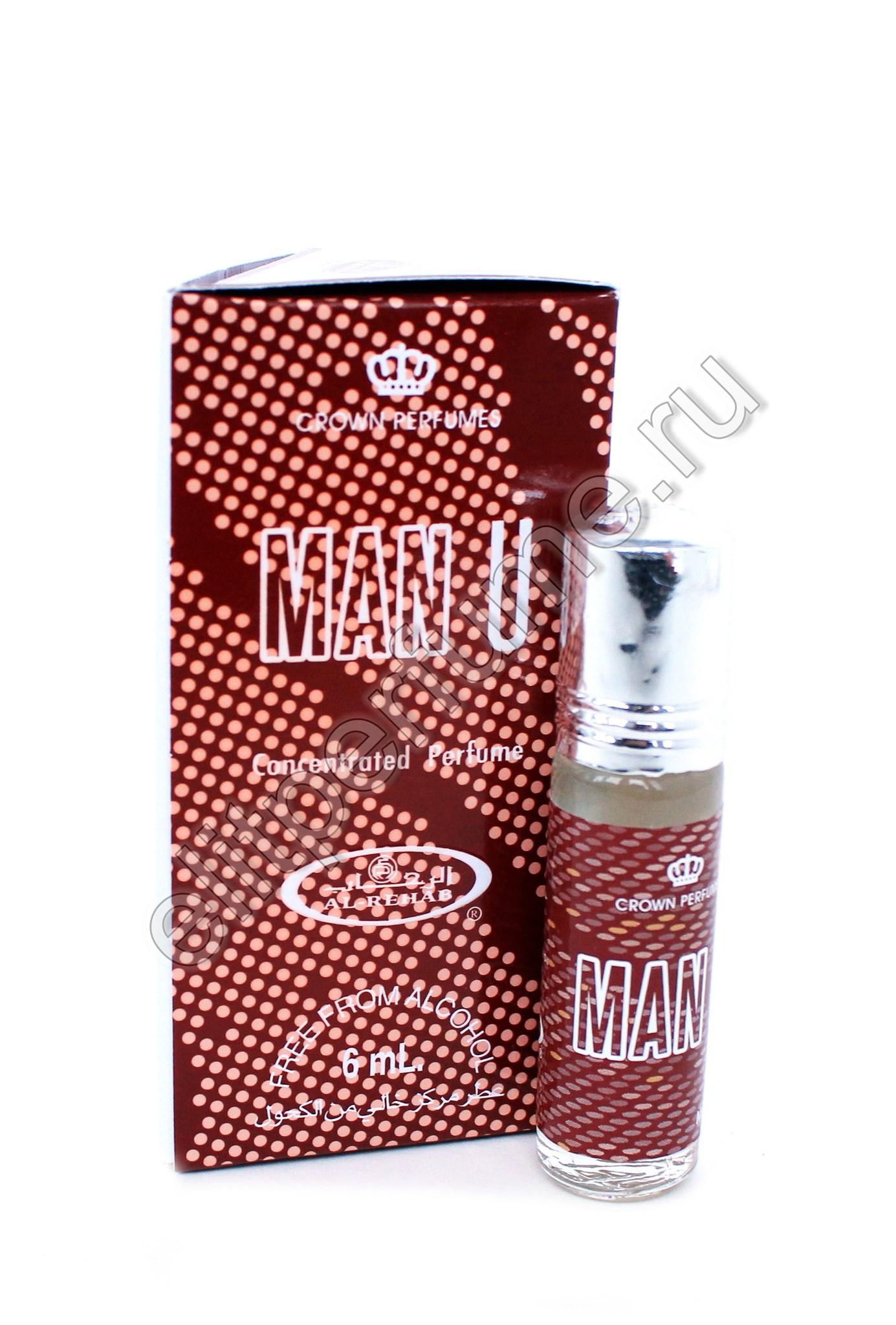 Man U Ман Ю 6 мл арабские масляные духи от Аль Рехаб Al Rehab