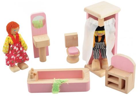Набор деревянной игрушечной мебели