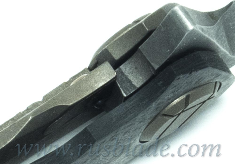 CKF Asymmetric Skull CUSTOM (Alexey Konygin design, S90V, titanium, CF) - фотография