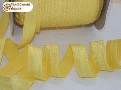 Резинка для повязок с легким блеском желтая 16 мм