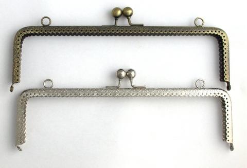 Фермуар (рамочный замок) прямоугольный, 25,5 см (выбрать цвет)